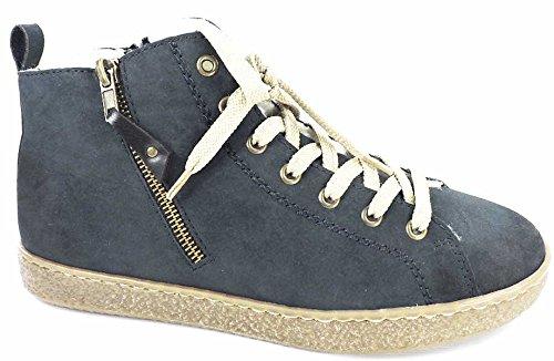 Rieker Damen High Top Sneaker Gefüttert Blau, Schuhgröße:EUR 40
