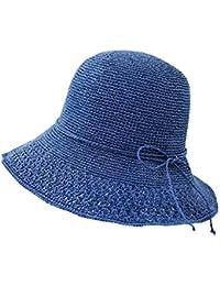 Cappello da sole LHA Cappello di Paglia Cappello Estivo da Donna Cappello  da Pescatore Cappello da Pescatore con… 0ca17b0e1b14