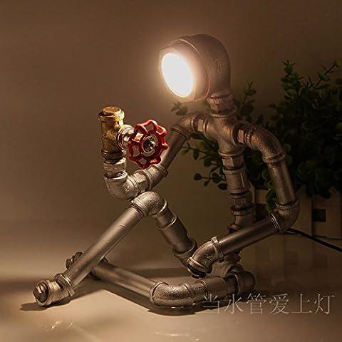 GQLB Les tuyaux d'air lampes Retro robot industriel eye light (230*300mm), de couleur cuivre lumière chaude
