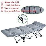 Stabiler Metallrahmen- Klappbett mit warmen Baumwolle Pad Steady Square Tube Büro Siesta Bett...