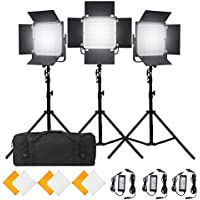 Pixel 3PCS K80 Wireless Dimmable LED Video Light with 600pcs Beads Two filters for YouTube Studio Photography Video Shooting