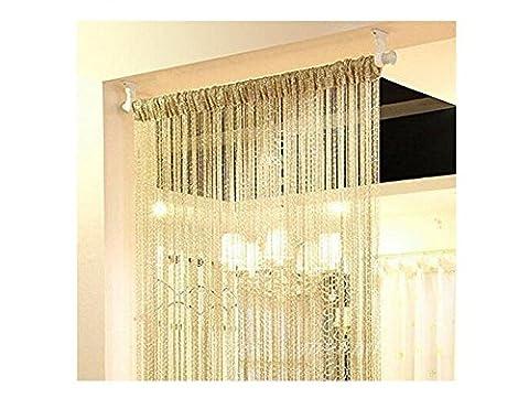2Fashion Silber Ribbon Fenster Panel Raumteiler Strip Quaste Schal Volant