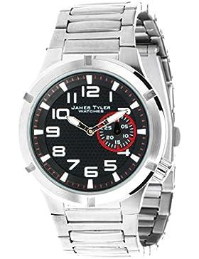 James Tyler Herren-Armbanduhr, Quarz-Werk, Edelstahlband gebürstet, JT703-3