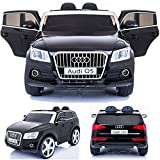 SIMRON - AUDI Q5 Quattro SUV Elektro Kinderauto Kinderfahrzeug Ride-On 12V Kinder Elektroauto -schwarz-