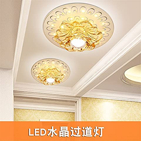 Larsure Vintage Modern Style Ceiling Lights Highlight Round led light beam lamp crystal aisle corridor light entrance days Lantern lighting ,240mm balcony