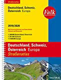 Falk Straßenatlas Deutschland, Schweiz, Österreich, Europa 2019/2020 1 : 300 000 (Falk Atlanten) -