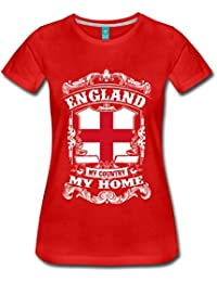 Spreadshirt England My Country My Home Crest Slogan Women's Premium T-Shirt
