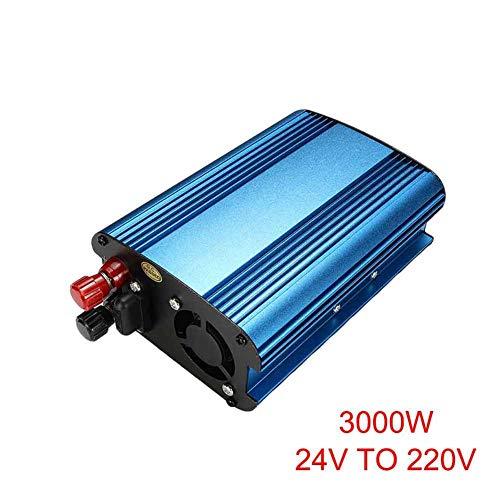 wokee 3000W/4000W Coche Energía Solar Inversor DC 12 / 24Va AC 220V Modificado Onda Sinusoidal Convertidor - 24V To 220V-3000W