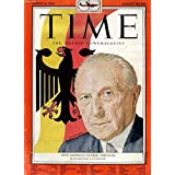 TIME, NEWSMAGAZINE, VOL. LXII, N° 9, AUG. 1953 (Contents: Iran Mobs Riot for their Shah. West Germany's Konrad Adenauer (Cover). Morocco, El Glaoui, Ben Youssef. El Sapo & Bride in Mexico City Prison Ceremony...)