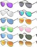 Pilotenbrille Verspiegelt Fliegerbrille Sonnenbrille Pornobrille Brille