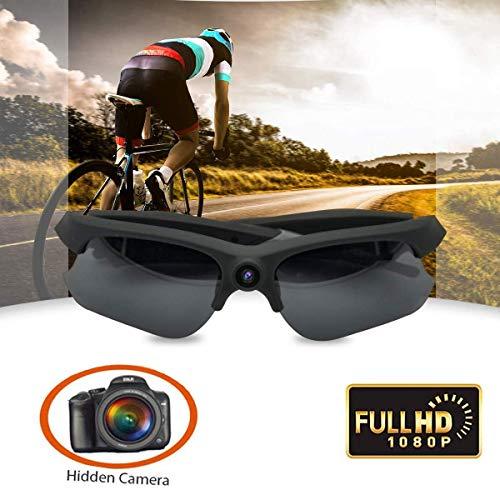 PSATO Outdoor-Sonnenbrille Mit Versteckter Kamera, 1080P-Videorekorder-Kamera, Polarisiertem UV-Schutzobjektiv, Mini-DV-Kamera Mit 120 ° Weitwinkel Für Den Sport