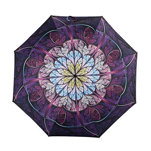 Kobold ,  Mädchen Damen Taschenschirm violett violett L (Rib Cowboy)
