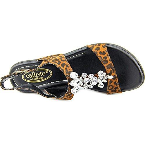 Callisto Aster Stoff Sandale Leapard