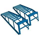 Cartrend 50156 Auffahrrampen-Set extra massiv und breit,Tragekraft 2 Tonnen je Paar bis 225 mm Reifenbreite