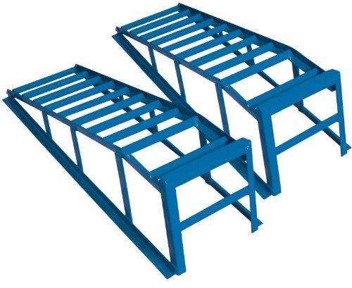 Cartrend 50156 Kit de rampes d'accès, très grandes et très larges, puissance de charge de 2tonnes par paire, jusqu'à 225mm de largeur de roues