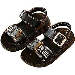 Kinder Sandalen, Chickwin Im Freien Kinder Schuhe Öffnen Toe Sommer Strand Flache Sandalen (24, Gelb)