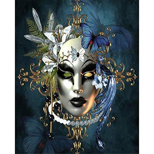 1 STÜCK Kostüm Maskerade Maske Ornament 5D Vollbohrer Verziert Kreuzstich Kits Gemälde Strass Sticks DIY Leinwand Diamant Kunsthandwerk Für Hauswand