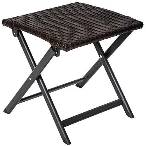 tectake-taburete-plegable-de-aluminio-y-poli-ratan-para-sentarse-mesa-auxiliar-largo-x-ancho-x-alto-
