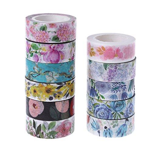 ng Tape Pflanzen Blumen Klebeband Washi Tape DIY Deko Scrapbooking ()