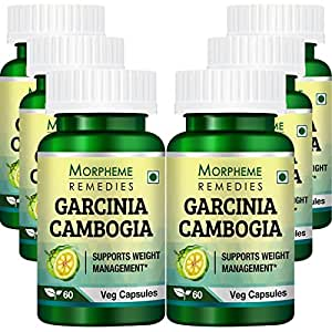 Morpheme Remedies Garcinia Cambogia Extract 60 Veg Caps for Weight Management - 6 Combo Pack