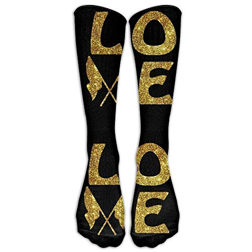 HVCMNVB Glitter Gold Color Guard Casual Unisex Sock Knee Long High Socks Sport Athletic Crew Socks One Size -
