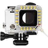 D&F USB Port 20 LED Dimmable Ring Video Light Shooting Night Flashlight For GoPro Hero 4/3+/3 Cameras