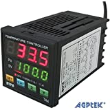AGPtek PID Controlador de Temperatura Digital de Alarma & SNR (1 Alarma) con Multifunciones