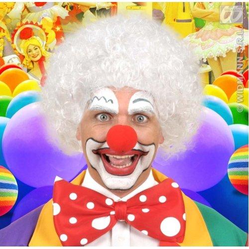 WIDMANN Perücke Clown weiß für Haarschmuck Fasching (Weiße Clown Perücke)