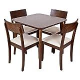 Ecco il set da pranzo crosby 5pezzi da Sabichi; questo splendido set da pranzo dispone di un tavolo quadrato con gambe in legno massiccio e un tavolo liscio che è finito in un magnifico Colore: noce. Questo set vanta inoltre quattro sedie in legno c...
