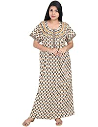 7f0a399a1d Nighty House Womens Full Length Free Size 100% Cotton Nightgown