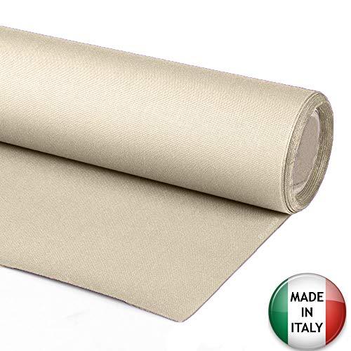 tessuto per tende da sole esterno a metraggio 1 metro stoffa tenda tinta unita impermeabile tessuti ultima generazione gazebo balcone camper tendalino pergolato 10 colori (beige, 60)