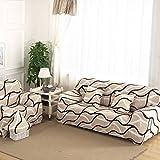 Coperture divano a 3 posti divano Slipcover stretch elastico Pet Dog Couch Protector poliestere tessuto morbido divano copertura stampa floreale, Wave, 3 posti