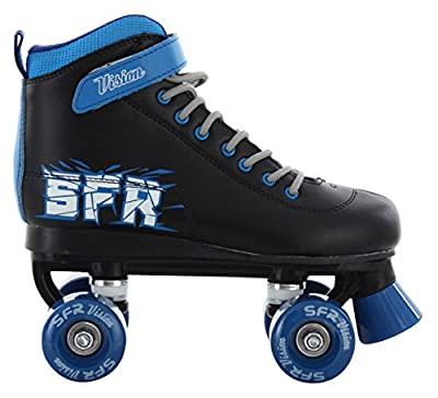 SFR Vision II Rollschuhe Disco Roller Kinder schwarz-blau