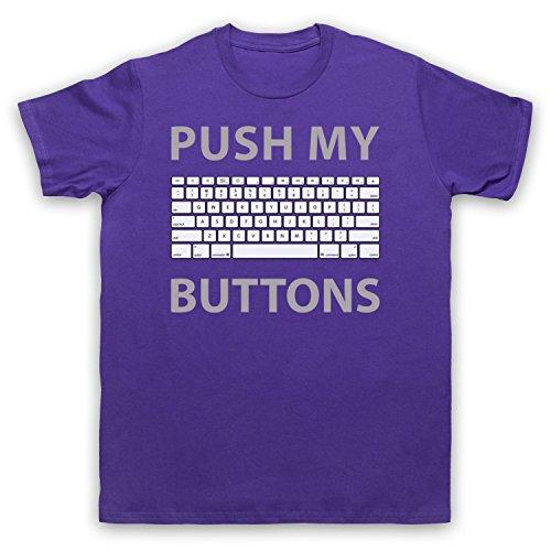 Push My Buttons Computer Geek Herren T-Shirt Violett