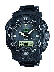 Casio - PRG-550BD-1ER - Montre Homme - Quartz Digital - Bracelet - Acier inoxydable noir