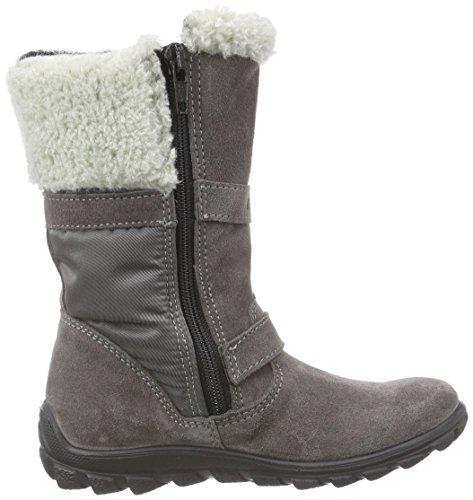Ricosta Leonie, Bottes de neige de hauteur moyenne, doublure chaude fille Gris - Grau (meteor/patina 467)
