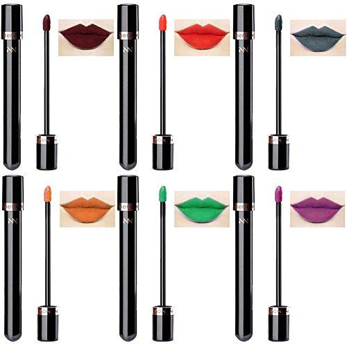 Verbesserung Der Lippenfarbe (Sweetds 6er Packung 10 Farben Match Wasserdicht Lang Anhaltende Matte Flüssigkeit Lippenstift Schönheit Lippen Glanz)