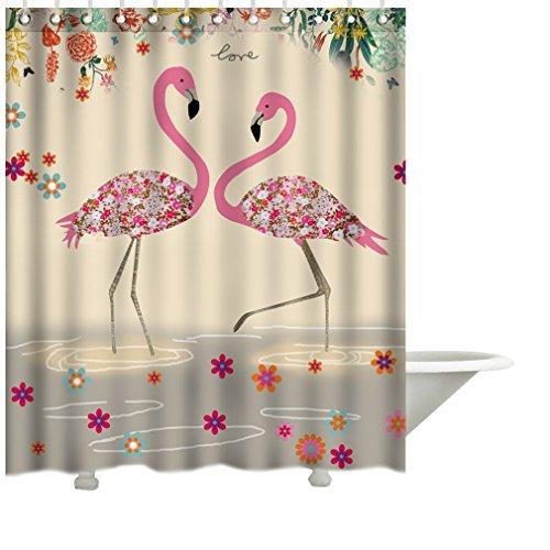 Flamingo Muster viele schöne Duschvorhänge zur Auswahl, hochwertige Qualität, Wasserdicht, Anti-Schimmel-Effekt 180 x 200 cm (Halloween Schwarze Katze Silhouette Muster)