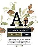 Elements of Oil Arganöl geröstet 250ml - Kaltgepresst und unbehandelt aus Marokko - 100% rein   Gourmet-Speiseöl (nussig)   Hautpflegeöl   Haaröl   Kosmetik & Küche   OMEGA-6 Fettsäuren  