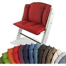 BambiniWelt Cojín de asiento para trona Stokke Tripp Trapp, en 14colores, jaspeado, asiento de 2piezas, funda, cojín de repuesto