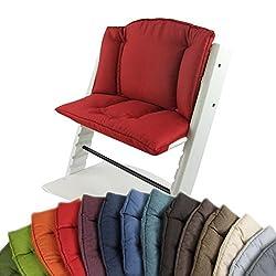 Roba Baby Sitzverkleinerer Hochstuhl Stuhl Sitz Kissen Auflage Kinder Rot 2Teile