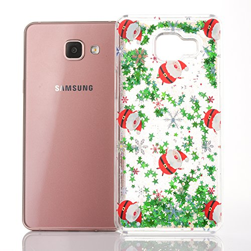 iPhone 7 4.7 inches custodia KSHOP plastica PC hard cover, sabbie mobili liquido con Natale design a tema, Bling bling Sottile Anti-graffio Resistente Cover iPhone 7 4.7 inches - Argento, Sequins Star Christmas04