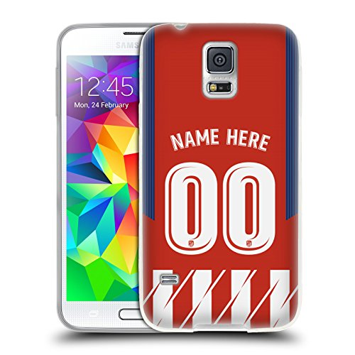 aeb9c1871fca9 Custom Customised Personalised Atletico Madrid Home Kit 2017/18 Soft Gel  Case Compatible for Samsung Galaxy S5 / S5 Neo