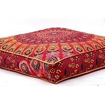 Funda de cojín con diseño de mandala india, de Bhagyoday Fashions, cuadrada, para