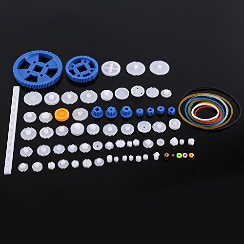 Plastic Gears Set Pulley Belt Worm Kits Crown Gear Set Robot Motor Car Toy for DIY Parts (80kinds)