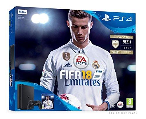 PS4 Slim 500Go E noir + FIFA 18