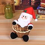 Gaddrt Süßigkeiten Korb Stempel Weihnachten Candy Ablagekorb Dekoration Weihnachtsmann Ablagekorb Geschenk 19x18CM (A)