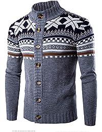 Ularma Hommes Coloris Assortie Nation Laine à tricoter Cou Pull Veste Chemisier