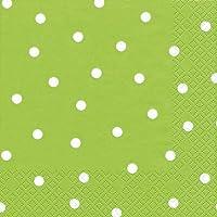Punti tovagliolo - Verde chiaro - 20 A pois Stk.