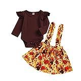 Baby Mädchen Junge Kleidung Strampler Tops + Tutu Röcke Türkei Thanksgiving Outfit Set
